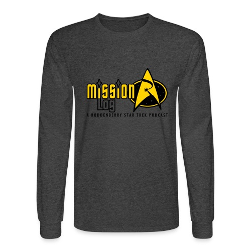 Logo Wide 2 Color Black Text - Men's Long Sleeve T-Shirt