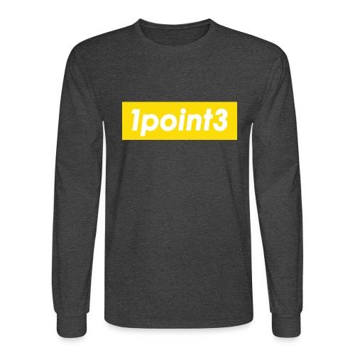 1point3 yellow - Men's Long Sleeve T-Shirt