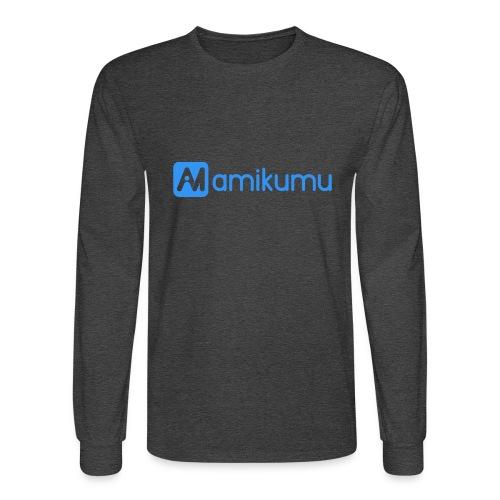 Amikumu Logo Blue - Men's Long Sleeve T-Shirt