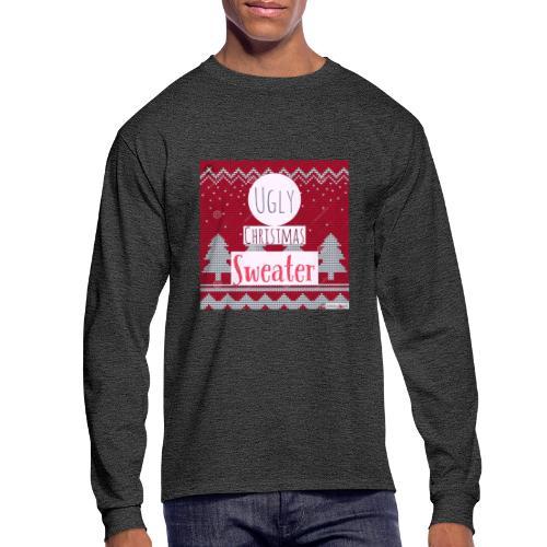 Ugly Christmas Sweater - Men's Long Sleeve T-Shirt