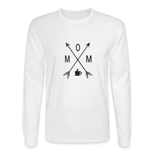 Mom Loves Coffee (black ink) - Men's Long Sleeve T-Shirt