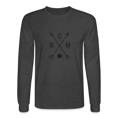 Mom Loves Coffee (black ink) - Men's Long Sleeve T-Shirt