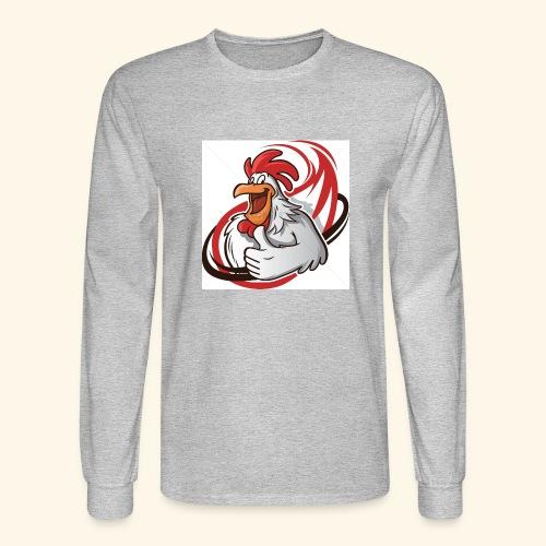 cartoon chicken with a thumbs up 1514989 - Men's Long Sleeve T-Shirt