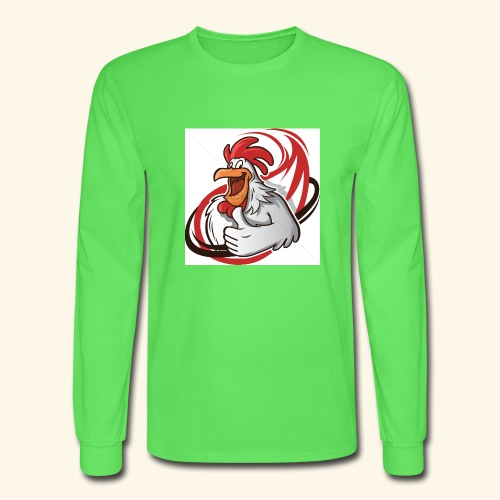 cartoon chicken with a thumbs up 1514989 - Men's Long Sleeve T-Shirt