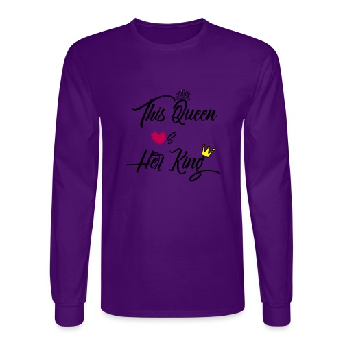 This Queen Loves Her King - Men's Long Sleeve T-Shirt