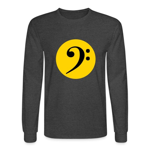 Bass Clef in Circle - Men's Long Sleeve T-Shirt