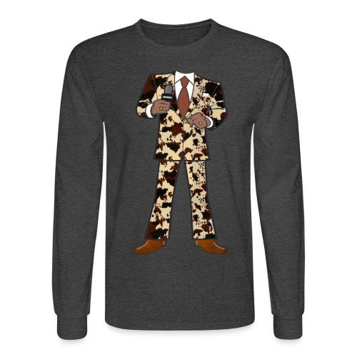 The Classic Cow Suit - Men's Long Sleeve T-Shirt