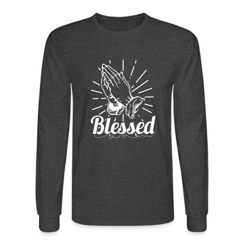 Blessed (White Letters) - Men's Long Sleeve T-Shirt