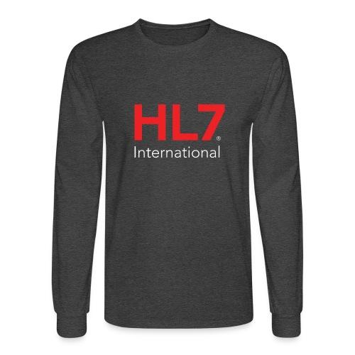HL7 International Logo - Reverse - Men's Long Sleeve T-Shirt