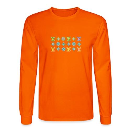 custom coloured LV pattern. - Men's Long Sleeve T-Shirt