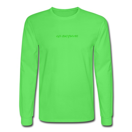 Go Skydive T-shirt/Book Skydive - Men's Long Sleeve T-Shirt
