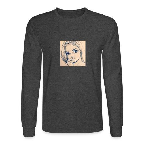 c7cae63168a24ef3c45fb8482aa467a3 drawing girls - Men's Long Sleeve T-Shirt