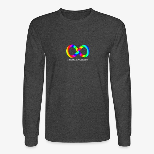 Neurodiversity with Rainbow swirl - Men's Long Sleeve T-Shirt