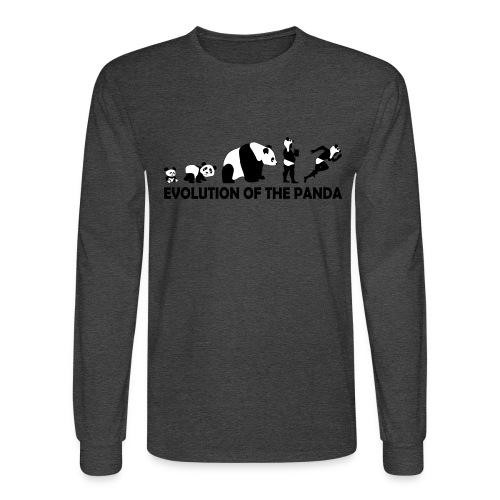 EVOLUTION OF THE PANDA - Mud Runner - Men's Long Sleeve T-Shirt