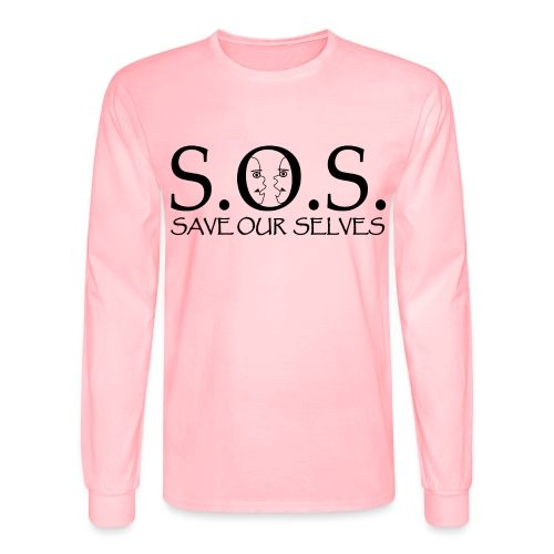 SOS Black on Black - Men's Long Sleeve T-Shirt