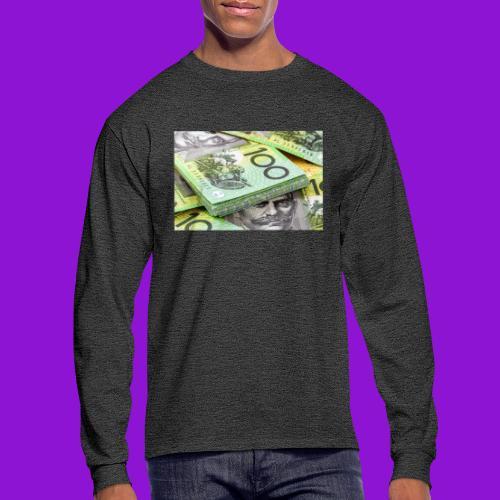 Australian Dollar 100 Notes 1 - Men's Long Sleeve T-Shirt
