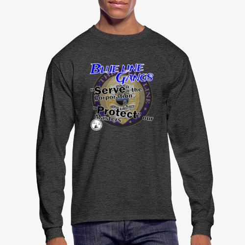 Thin Blue Line - To Serve and Protect - Men's Long Sleeve T-Shirt