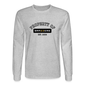 Property of Brazzers logo outline - Men's Long Sleeve T-Shirt