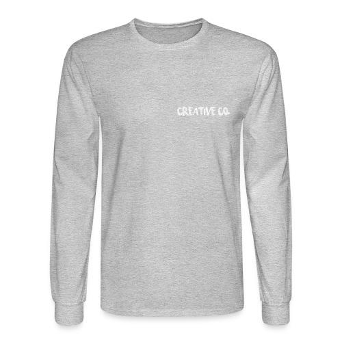 Creative Co Front Logo White - Men's Long Sleeve T-Shirt