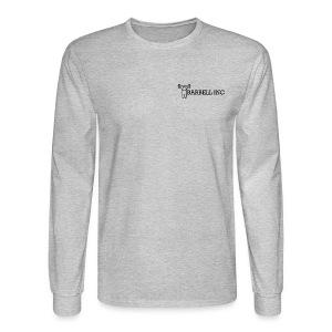 Barbell Inc Stickman (Grey) - Men's Long Sleeve T-Shirt