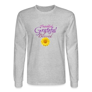 Thankful grateful blessed - Men's Long Sleeve T-Shirt