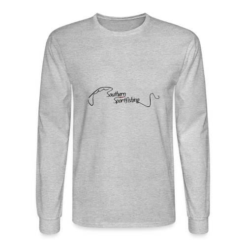 Southern Sportfishing - Black Logo - Men's Long Sleeve T-Shirt