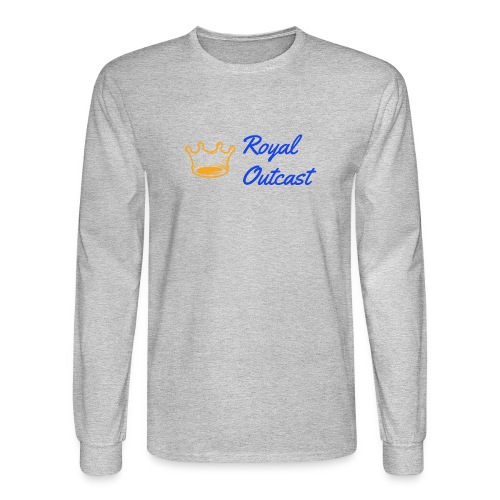 GreyRoyal Outcast with blue and gold logo - Men's Long Sleeve T-Shirt