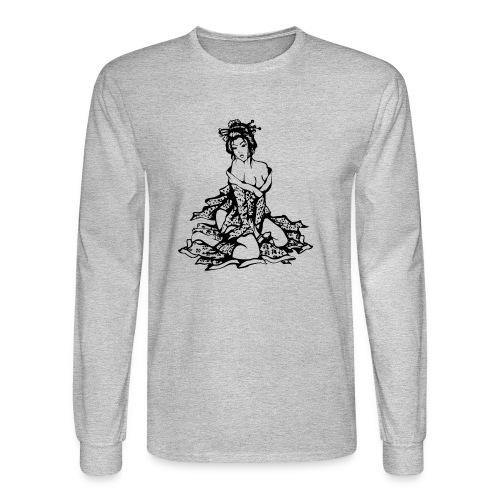 geisha black - Men's Long Sleeve T-Shirt