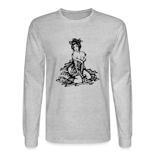 geisha black - Men's Long Sleeve T-Shirt