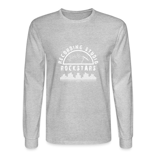 Recording Studio Rockstars - White Logo - Men's Long Sleeve T-Shirt