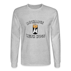 Recharge with hugs - Men's Long Sleeve T-Shirt