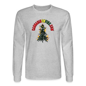 Cannabis On Fire T-Shirt 420 Cannabis Wear 2017 - Men's Long Sleeve T-Shirt