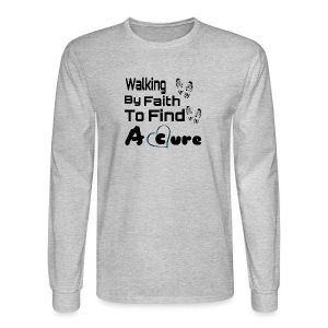Walking By Faith Lupus Awareness Graphic Tee - Men's Long Sleeve T-Shirt