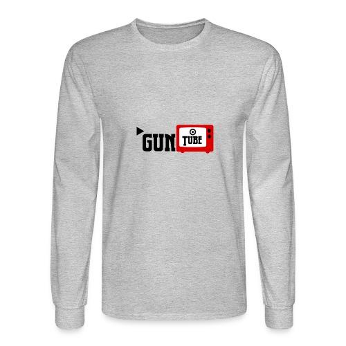 guntube larger logo - Men's Long Sleeve T-Shirt
