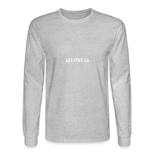 Creative Co Front Logo White - Men's Long Sleeve T-Shirt