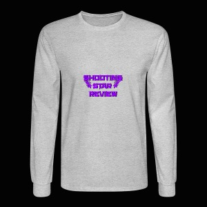 Shooting Star Review Purple Logo - Men's Long Sleeve T-Shirt