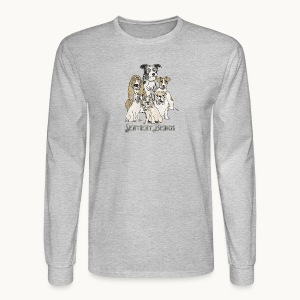 DOGS-SENTIENT BEINGS-white text-Carolyn Sandstrom - Men's Long Sleeve T-Shirt
