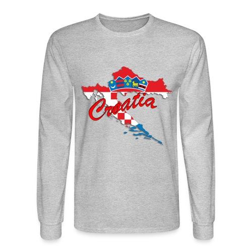 Croatia Football Team Colours T-Shirt Treasure Des - Men's Long Sleeve T-Shirt