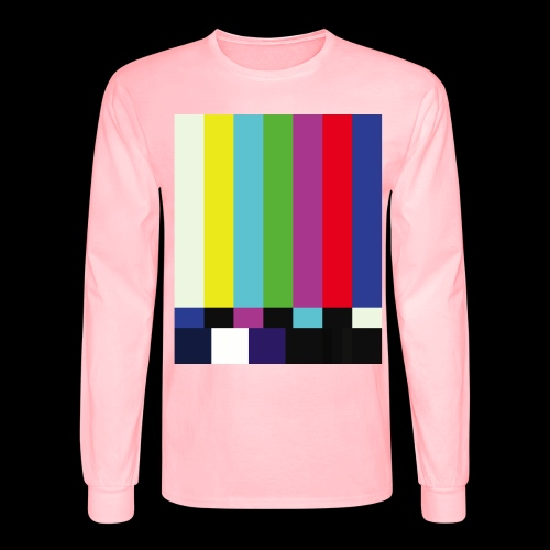 This is a TV Test | Retro Television Broadcast - Men's Long Sleeve T-Shirt