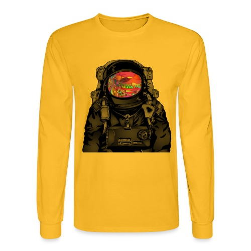 tripped out space man - Men's Long Sleeve T-Shirt