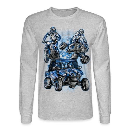 Moto Extreme Sports Blue - Men's Long Sleeve T-Shirt