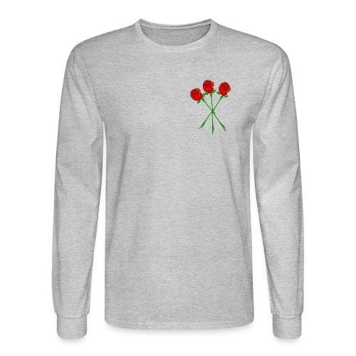 Simple Red Roses - Men's Long Sleeve T-Shirt