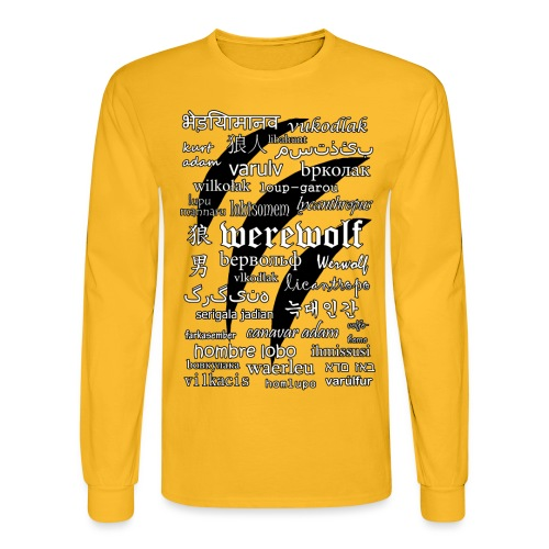 Werewolf in 33 Languages - Men's Long Sleeve T-Shirt