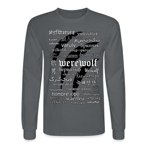 Werewolf in 33 Languages - Men's Long Sleeve T-Shirt