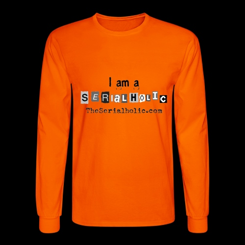 Black Serialholic Logo - Men's Long Sleeve T-Shirt