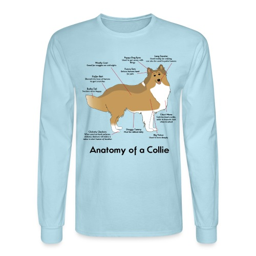 Anatomy of a Collie - Men's Long Sleeve T-Shirt