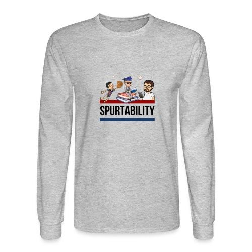Spurtability Black Text - Men's Long Sleeve T-Shirt