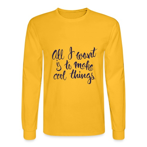 Cool Things Navy - Men's Long Sleeve T-Shirt