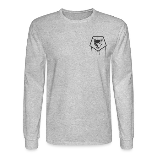 the drip crest - Men's Long Sleeve T-Shirt
