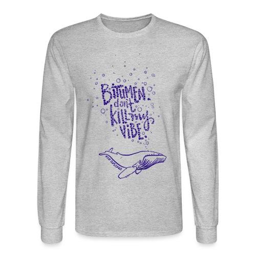 bitumen don't kill my vibe - navy - Men's Long Sleeve T-Shirt